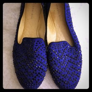 Gianni bini royal blue loafers new without tag!